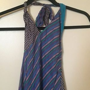 BNWT Urban Outfitters patterned halter dress